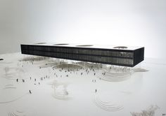 jaja architects - Library Landscape, architectural model