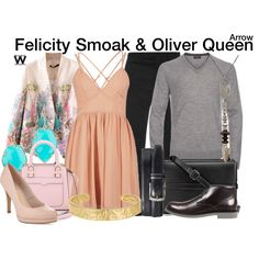 Inspired by Emily Bett Rickards & Stephen Amell as Felicity Smoak & Oliver Queen on Arrow.