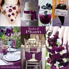Plum is a beautiful theme colour for weddings! I love