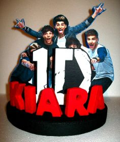 ONE DIRECTION 3D Custom PERSONALIZED Cake Topper by TishToppers, $39.00