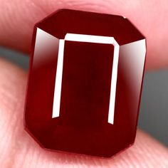 9.67CT.GORGEOUS! OCTAGON FACET TOP BLOOD RED NATURAL RUBY MADAGASCAR NR! #GEMNATURAL