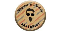 Peluquería & Barbería Santorini Santorini, Design Logos, Santorini Caldera