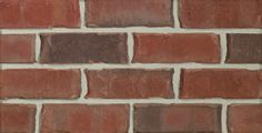 Remington (Engineer) is a red extruded facebrick from the Marseilles Plant #redbrick #glengery #brickhouse #fireplace #backsplash #brick