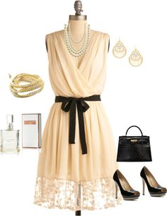 """Vanilla dress"" by yiannab on Polyvore"