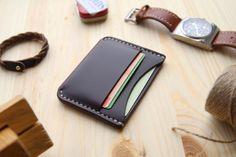 Horween Chromexcel 8 Wallet Leather Card Holder Wallet Mens