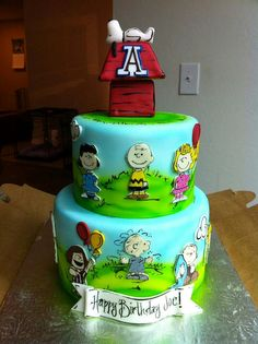 peanuts gang cake.  I want someone to make this cake for me.