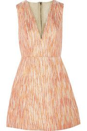 Alice + Olivia Pacey tulle-trimmed jacquard mini dress