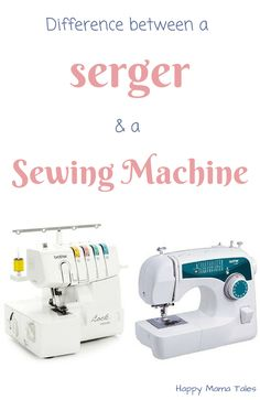 Learn the difference between a serger and a sewing machine for all your DIY projects!! Oh that's cool, I always wanted to know the difference between sewing and serging!
