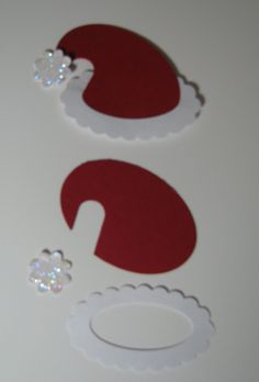 hope I remember this next winter! Santa hat - punch art change any punch art into cricut layers just know your AP shapes! Christmas Punch, Christmas Gift Tags, Christmas Paper, Xmas Cards, Handmade Christmas, Paper Punch Art, Punch Art Cards, Craft Punches, Homemade Cards