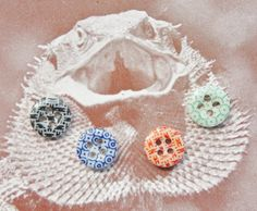 Antique Buttons Calico China  Dimi Buttons Tiny by ButtonBroker