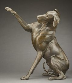 Louise Peterson - High Five, life-size bronze