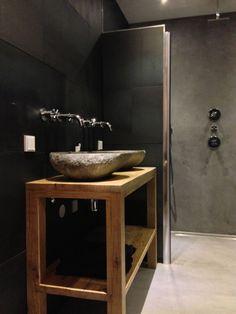 Badkamer betonstuc staal |