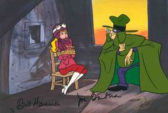 """""""The Perils of Penelope Pitstop"""" was a spin-off of the Wacky Races cartoon. The series was patterned after the silent movie melodramas. Penelope's arch-nemesis is The Hooded Claw."""
