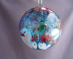 Hanging this hand blown decorative ball in the window or room is said to protect your home against evil spirits and witches spells for centuries. The