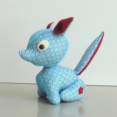 Blue Patterned Foxy Softie - by The_Crafty_Little_Fox on madeit