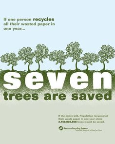 Recycle and save the trees. #JC# I thought when we went computer we would use less paper....