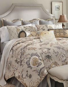 Drift off to sleep amidst the beautiful botanical motif of the Canterbury Bedding Collection; made from 100% cotton for luxurious comfort.