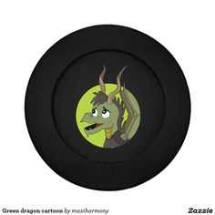Green dragon cartoon pack of small button covers
