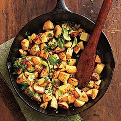 Cooking Light: Herbed Potatoes ... Herb's Up! from Lodge Cast Iron!