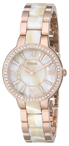f93ee3e7318 Fossil Virginia Three-Hand Stainless Steel Watch -- Click on the watch for  additional details. Alessandra · Relógio