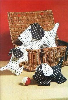 Las chorradikas de Laury: patrón perrito de tela muy facil