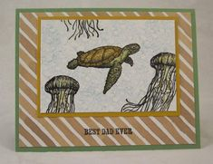 Swimming Turtle Card