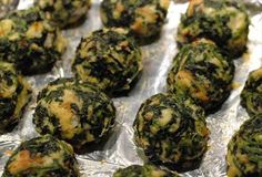 Spinach Balls. I have made these many times now.  I have made some changes on occasion.  For instance, I use Progresso Italian bread crumbs and I use a special parmesan bread dip seasoning too.  Sometimes in the mix and sometimes sprinkled on top.  Sometimes both!