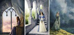 Nerdanel, Anairë and Eärwen - the wives of Feanor, Fingolfin and Finarfin LOTR Silmarillion Tolkien