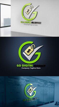 Professional Digital Marketing Logo Design Template Free Logo Templates, Logo Design Template, Marketing Logo, Digital Marketing, Great Logos, Mockup, How To Memorize Things, Awesome Logos, Miniatures