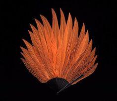 Feather brisé fan, France, 1915-1925.