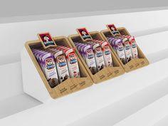 QUAKER - Exhibidores on Behance: Pos Display, Counter Display, Display Design, Display Shelves, Store Design, Pos Design, Retail Design, School Cafe, Supermarket Design