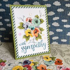 Altenew painted flowers With Sympathy card