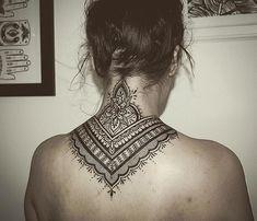 Nape Tattoo, Back Tattoos, Body Art Tattoos, Cool Tattoos, Tatoos, Back Tattoo Women, Sleeve Tattoos For Women, Skin Tags On Face, Latest Tattoo Design