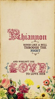 "Intro from ""Rhiannon"" by Fleetwood Mac"
