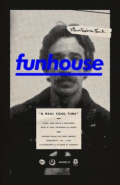 Creative Poster, Michael, George, Haddad, and Funhouse image ideas & inspiration on Designspiration Graphisches Design, Book Design, Layout Design, Print Design, Graphic Design Posters, Graphic Design Typography, Graphic Design Inspiration, Photoshop, Techno Style
