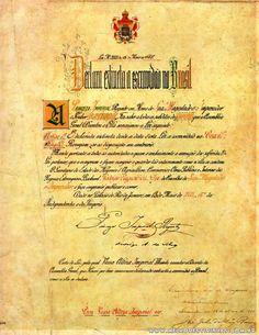 A escritura da Lei Áurea que aboliu a escravidão dos negros aqui no Brasil.