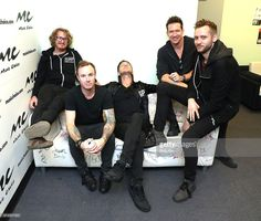 Members of OneRepublic Drew Brown, Eddie Fisher, Ryan Tedder, Zach Filkins and Brent Kutzle visit at Music Choice on October 13, 2016 in New York City.