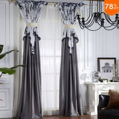 Find More Curtains Information about Grey Extreme Moon paradise Luxury 2016 village white painting European drawing drapery fashion quality luxury drapes finished,High Quality luxurious drapes,China luxury stock Suppliers, Cheap draping clothes from Fashion Trend For You on Aliexpress.com