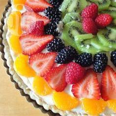 Fruittaart met witte chocolade