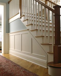 I love this look with the wainscot