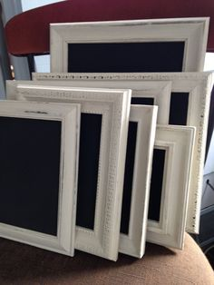 white framed chalkboards set of 8 wedding chalkboards frame table numbers four 8 x10 and