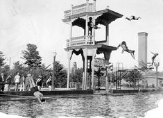 Fleishhacker Pool - Where I learned to swim in the 1950's - unheated and so big the lifeguards used rowboats.