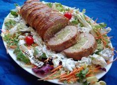 A legfinomabb brokkolis hústekercs, amit valaha ettél! Meatloaf, My Recipes, Paleo, Pork, Baby, Essen, Pork Roulade, Pigs, Babys
