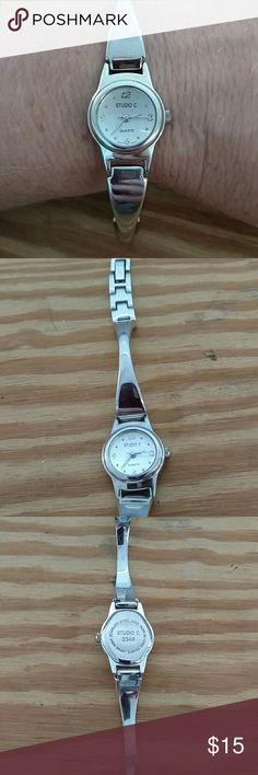 Studio C Great shape no makes on it Stainless steel studio C stamped on the back. Great for everyday wear. Studio Accessories Watches
