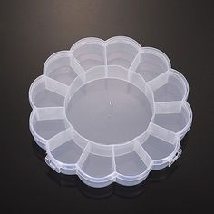 20 Boxes 13 Compartments Flower Shaped Plastic Bead Containers 158x158x25mm