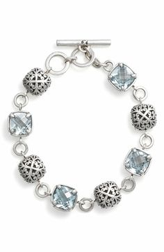 'Sky Blue Topaz' Toggle Bracelet... Just an idea of jewelry to make