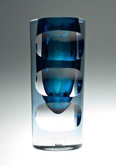 Imagen detallada de Morales jarrón de Mona Schildt sommerso con el corte de los efectos ópticos