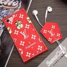LOUIS VUITTON(ルイ・ヴィトン)LV Supreme × Louis Vuittonコラボスマホケース シュプリーム おしゃれ カバー型 TPUソフトケース for iPhone8/7/6S/6/Plus