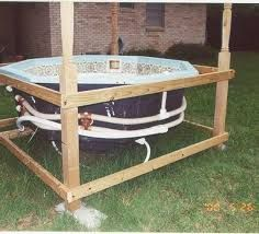 A hot tub is a wonderful thing to have. If you have built your own, you will need to plumb it. Once the jets, heater, blower and pump are in place you will need to connect them.Flexible PVC pipe is the best to use around the hot tub to connect the jets. Outdoor Rooms, Outdoor Decor, Spa Tub, Build Your Own, Jacuzzi, Plumbing, Building A House, Bulb, Outdoor Structures