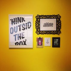 Yellow wall in the #CreativeSuite at #Zest is up and is oh so very #Zesty!